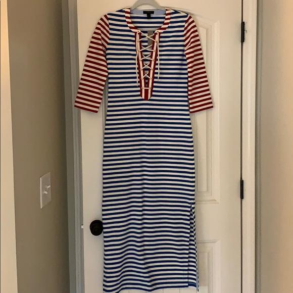 J. Crew Dresses & Skirts - J. Crew red white and blue midi dress